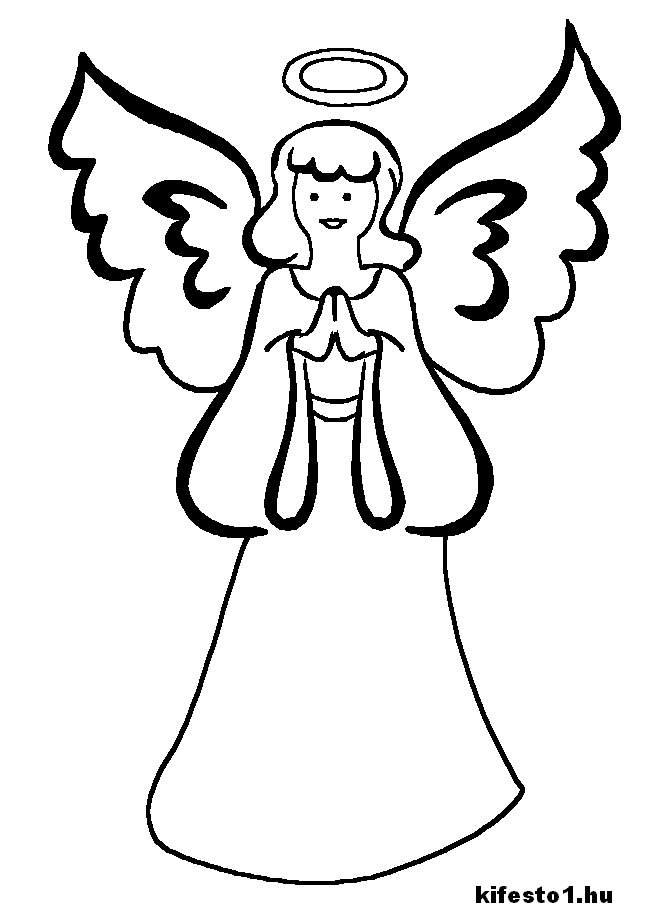 Раскраски ангелы - 5
